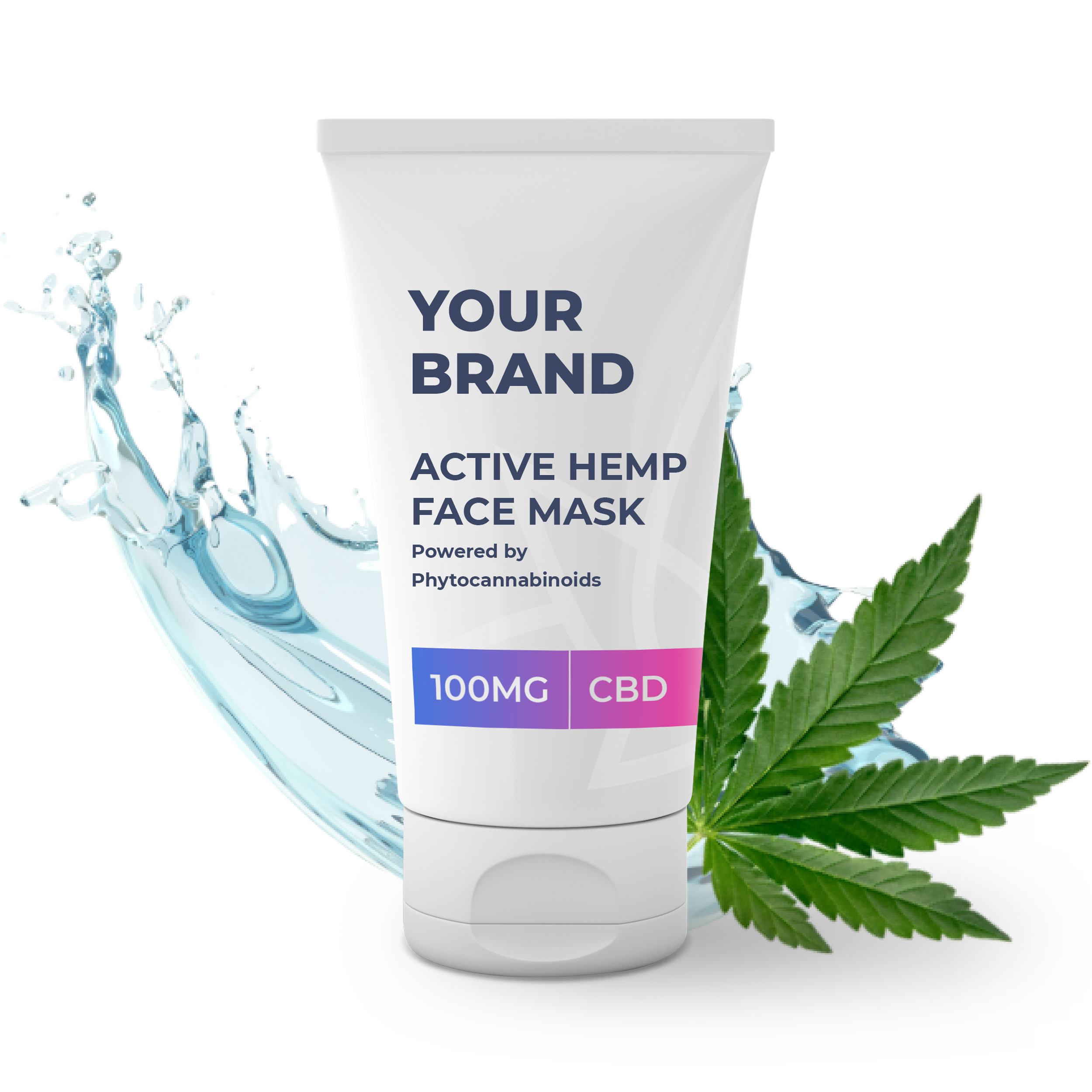 CBD Face Mask supplied in a 50ml fully recyclable, 50ml squeezable tube.